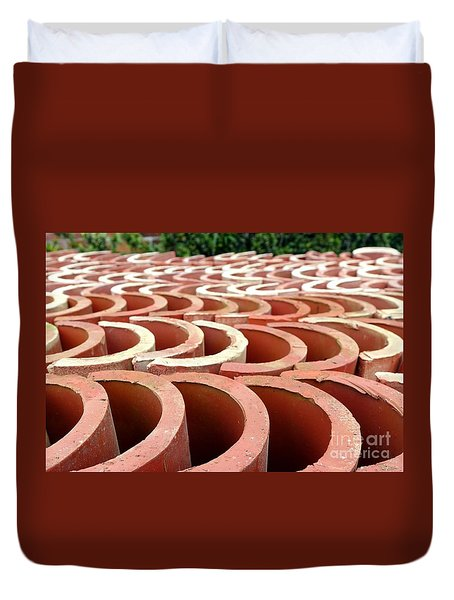 Chinese Traditional Roof Tiles Duvet Cover by Yali Shi