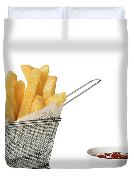 Chips With Tomato Sauce Duvet Cover