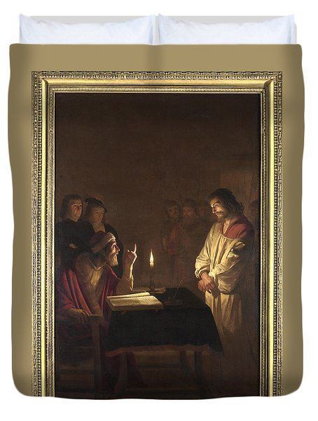 Christ Before The High Priest Duvet Cover by Gerrit van Honthorst