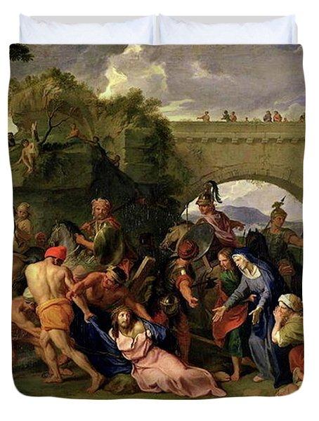 Christ Carrying The Cross Duvet Cover