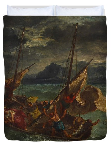 Christ On The Sea Of Galilee Duvet Cover