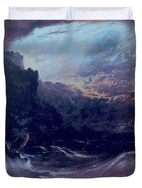 Christ Stilleth The Tempest Duvet Cover