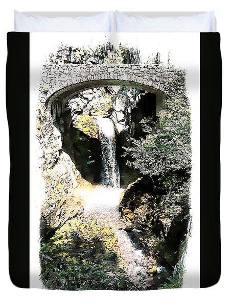 Christine Falls - Mt Rainier National Park Duvet Cover