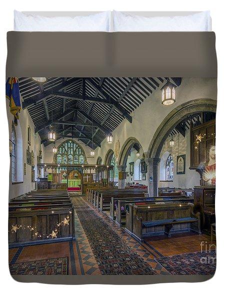 Christmas Church Duvet Cover