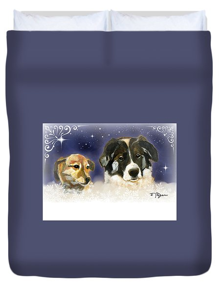 Christmas Doggies Duvet Cover