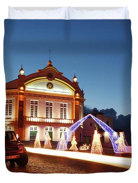 Christmas In Ribeira Grande Duvet Cover by Gaspar Avila