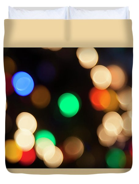 Duvet Cover featuring the photograph Christmas Lights by Susan Stone