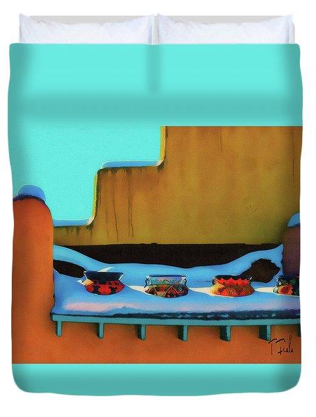 Christmas Morning Taos Duvet Cover