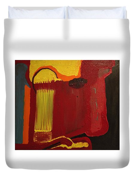 Christ's Profile Duvet Cover