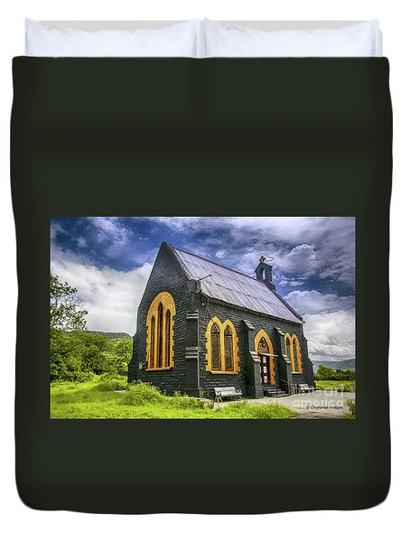 Duvet Cover featuring the photograph Church by Charuhas Images
