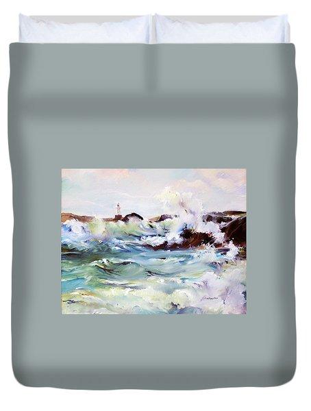 Churning Surf Duvet Cover