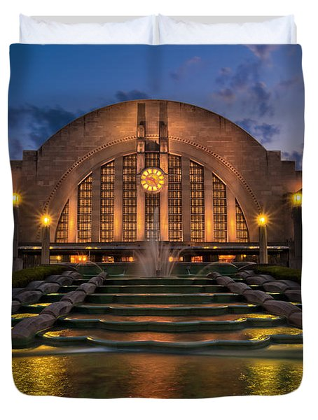 Cincinnati Museum Center At Twilight Duvet Cover