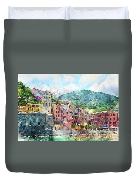 Cinque Terre Italy Duvet Cover