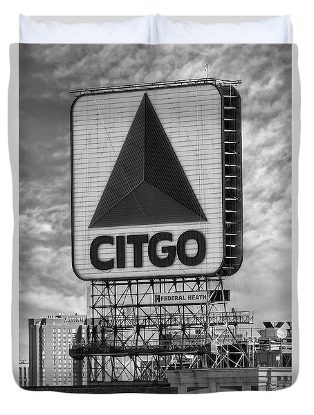 Citgo Sign Kenmore Square Boston Duvet Cover