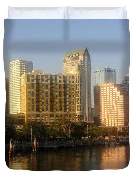 City By The Bay Duvet Cover by David Lee Thompson