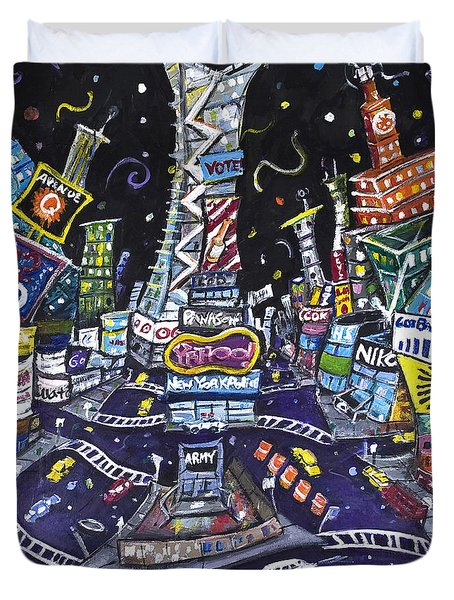 City Of Lights Duvet Cover by Jason Gluskin