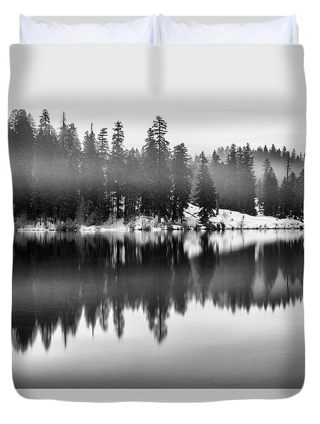 Duvet Cover featuring the photograph Clear Lake by Cat Connor