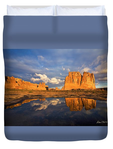 Clearing Storm At Sunrise Duvet Cover