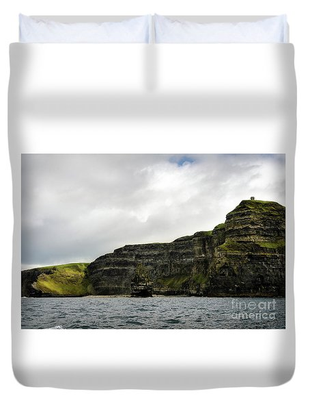 Duvet Cover featuring the photograph Cliffs Of Moher From The Sea by RicardMN Photography