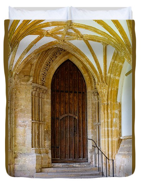Cloisters, Wells Cathedral Duvet Cover