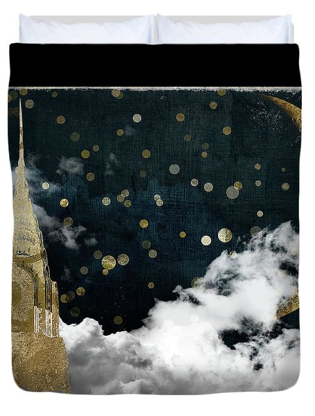 Cloud Cities New York Duvet Cover by Mindy Sommers