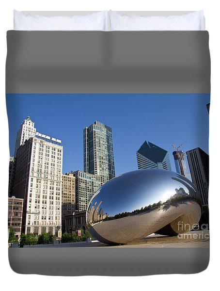 Cloudgate Reflects Duvet Cover