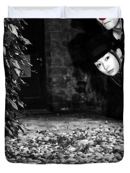 Clown Couple Duvet Cover by Joana Kruse