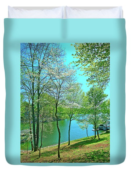 Cluster Of Dowood Trees Duvet Cover