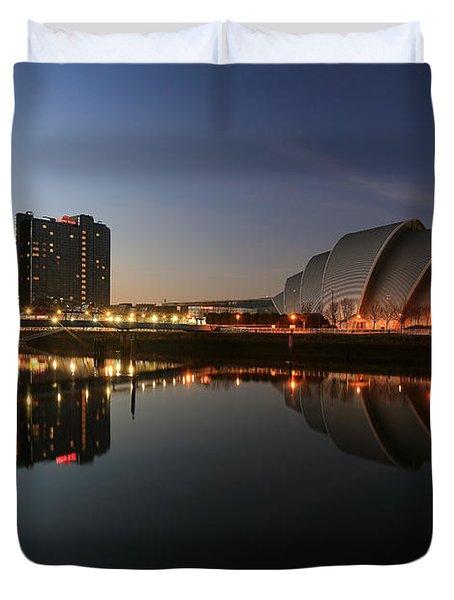 Clydeside Reflections  Duvet Cover by Grant Glendinning