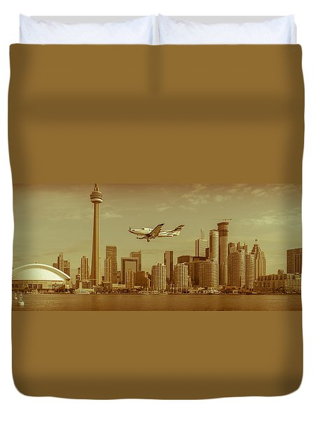 Cn Tower Drive-by Duvet Cover