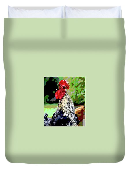 Cock A Doodle Doo Duvet Cover by Charles Shoup