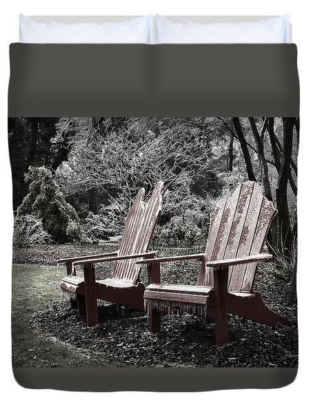 Cold Seats Duvet Cover by Denis Lemay