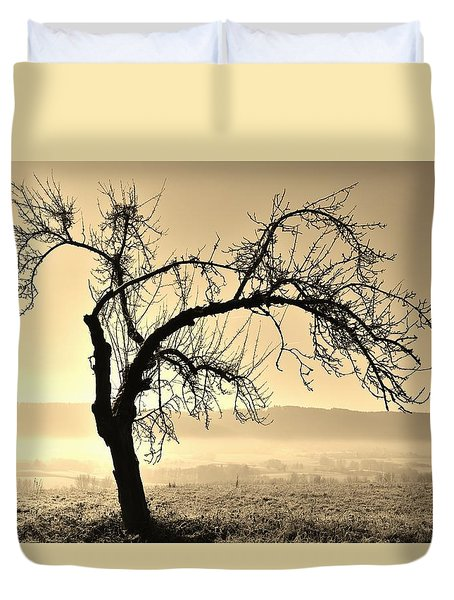 cold Winter day.... Duvet Cover