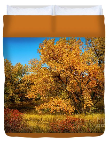 Colorado Autumn Duvet Cover