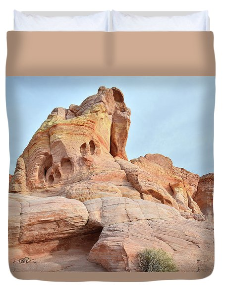 Duvet Cover featuring the photograph Colored Castle In Valley Of Fire by Ray Mathis