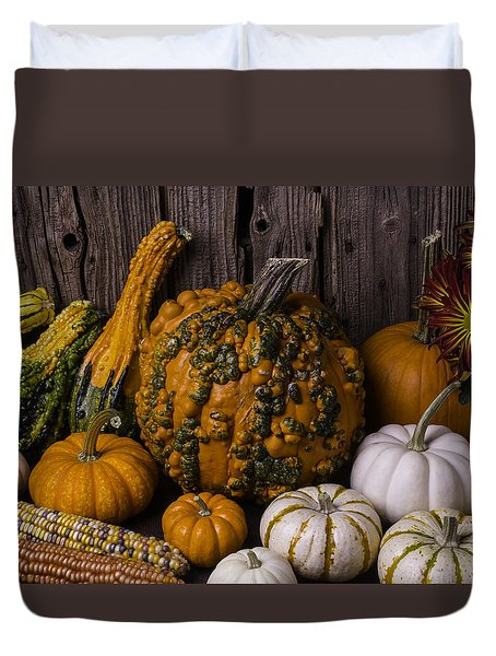 Colorful Autumn Still Life Duvet Cover