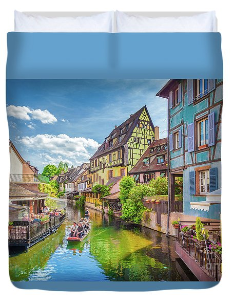 Colorful Colmar Duvet Cover by JR Photography