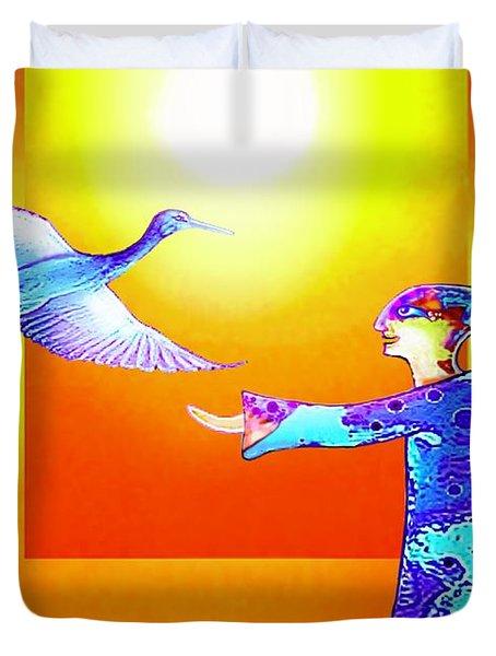 Colorful Friends Duvet Cover