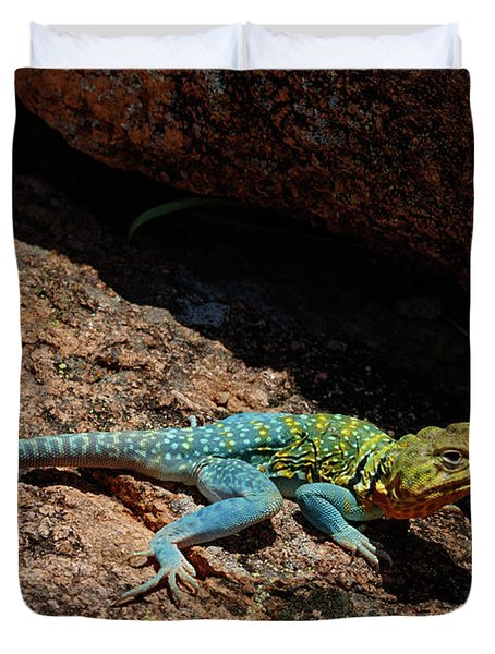 Colorful Lizard II Duvet Cover