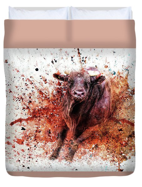 Coming Right At You Duvet Cover