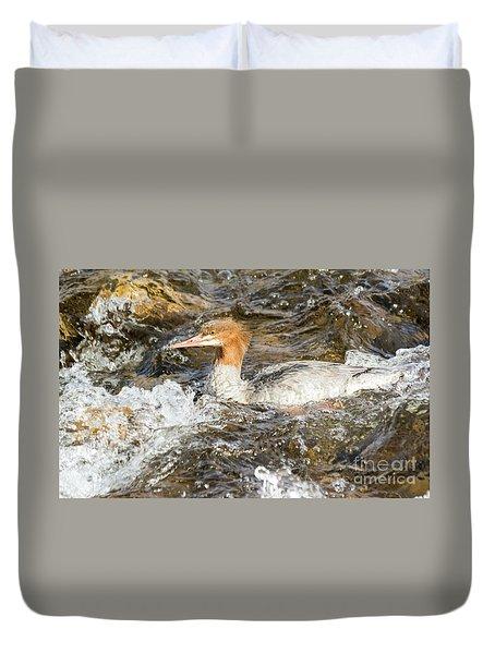 Common Merganser Duvet Cover