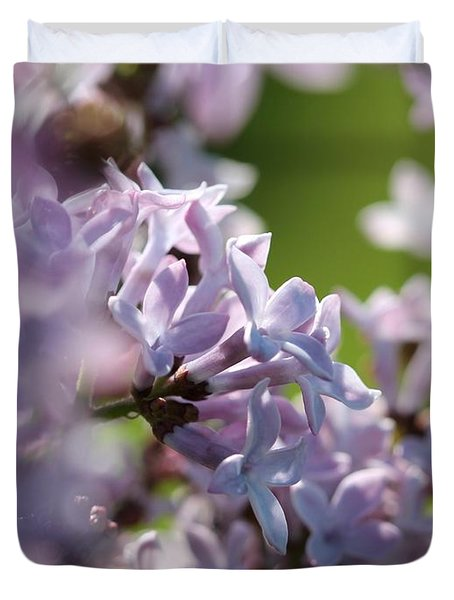 Common Purple Lilac Duvet Cover