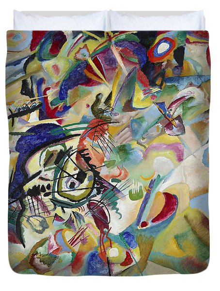 Composition Vii Duvet Cover by Wassily Kandinsky