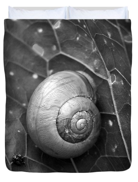 Duvet Cover featuring the photograph Conch by Jouko Lehto