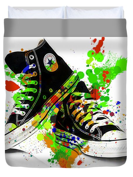 Converse All Stars Duvet Cover by Marvin Blaine