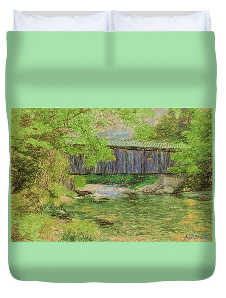 Cool And Green And Shady Duvet Cover