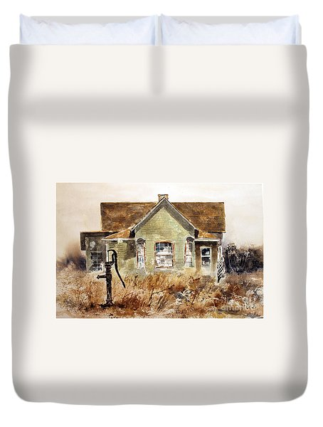 Water Pump Duvet Cover by Monte Toon