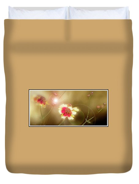Coreopsis Flowers And Buds Duvet Cover