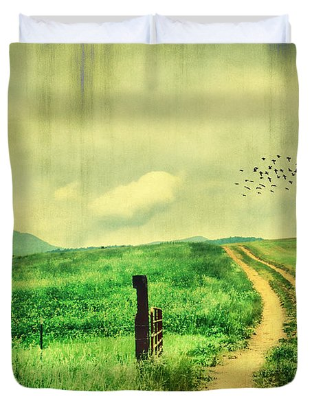 Country Roads Duvet Cover by Darren Fisher