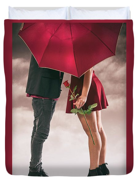 Duvet Cover featuring the photograph Couple Of Sweethearts by Carlos Caetano